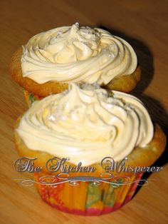 The Kitchen Whisperer Brown Sugared Vanilla Bean cupcake with crushed vanilla bean buttercream