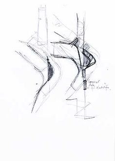 Enric Miralles & Benedetta Tagliabue - Sketches & Drawings