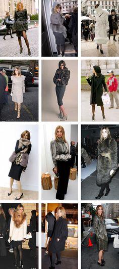 Carine roitfeld coat collage