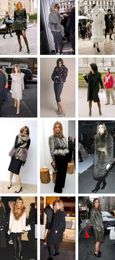 Carine roitfeld coat collage
