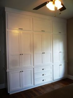 Custom Shaker Wardrobe for 1920s Vintage Bungalow in the Heights traditional dressers chests and bedroom armoires