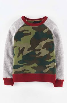 Mini Boden Cotton Sweatshirt (Toddler Boys, Little Boys & Big Boys) available at #Nordstrom
