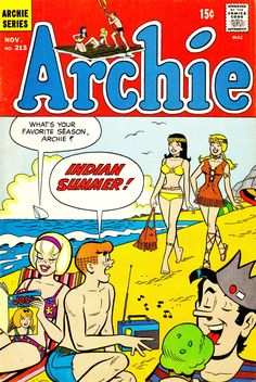 Archie vintage comic book - Indian Summer at the beach.