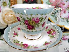 Royal Albert Tea Cup and Saucer Gaiety Series Two Step Teacup | eBay