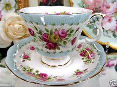 Royal Albert Tea Cup and Saucer Gaiety Series Two Step China Cups And Saucers, China Tea Cups, Royal Albert, English Tea Cups, Vintage Tea, Vintage China, My Cup Of Tea, Tea Service, Tea Cup Saucer