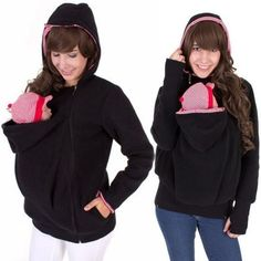 Baby Carrier Jacket Kangaroo Outerwear Hoodies &Sweatshirts Coat for Pregnant Women Pregnancy Baby Wearing Coat Women LJ5494M