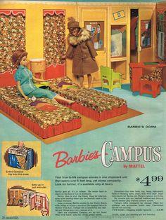 Barbie's campus playset | Sears Wishbook 1964