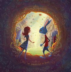 Alicia discovers the magic of the library / Alicia descubre la magia de la biblioteca (ilustración de Charles Santoso)