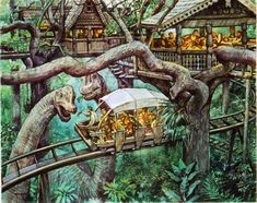Dinotopia: The Fantastical Art Of James Gurney Archaeology Prehistory thema Jurrassic Park, Park Art, Jurassic World Fallen Kingdom, Jurassic Park World, Fantasy Places, Fantasy Art, Dino Island, Les Reptiles, Historia Natural