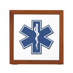 EMS EMT Paramedic Desk Organizer Show It Off and Personalize It