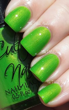 Cult Nails - Love this color! Green is hard though I think it sometimes looks like fungus lol