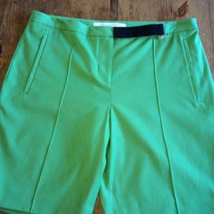 Diane Von Furstenberg Shorts Excellent condition green comfortable and elegant 17 in long size 8 great basic Diane von Furstenberg Shorts Bermudas