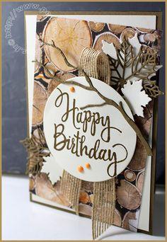 Seasonal Layers, Stylized Birthday, Wood Textures