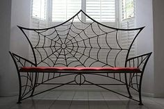 SOFAS IDEAS | Metal Gothic Spiderweb Bench by Metalabuse Check us out on Fb- Unique Intuitions  | bocadolobo.com/  #modernsofa #sofaideas