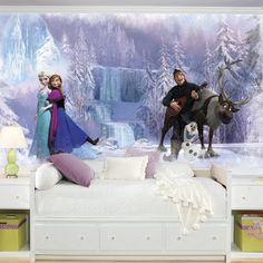 Disney Frozen Chair Rail Prepasted Wall Mural