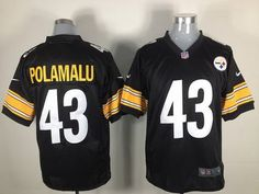 $22 for Men's Nike Pittsburgh Steelers #43 Troy Polamalu Black Jersey.Buy Now!  Video details at: http://youtu.be/E6ydGsQiWAY  http://sincerejerseys.com/Men-s-Nike-Pittsburgh-Steelers--43-Troy-Polamalu-Black-Jersey-productview-121120.html