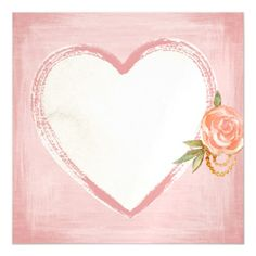 Shop Watercolor Pink Heart & Rose Panel Wall Art created by BubbleDesigns. Personalize it with photos & text or purchase as is! Love Heart Illustration, Text Frame, Hearts And Roses, Heart Background, Panel Wall Art, Love Images, Watercolor Background, Love Flowers, Heart Shapes