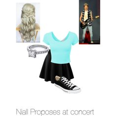 Niall proposes at concert by kaylee-schroeder on Polyvore featuring polyvore, fashion, style and Converse