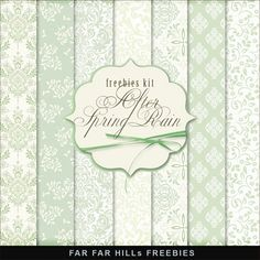 New Freebies Kit of Backgrounds - After a Spring Rain:Far Far Hill - Free database of digital illustrations and papers