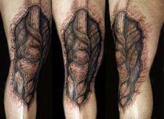 bone tattoo in knee - Google Search