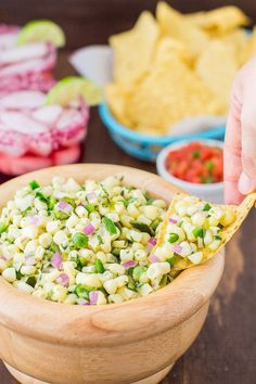A sweet salsa with medium heat, this Roasted Chili-Corn Salsa combines two chili peppers with sweet corn for maximum flavor. A Chipotle Copycat recipe.