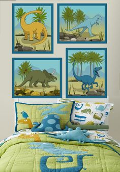Kids Dinosaur Art Boys and Nursery Canvas by ImagineThatOriginals, $40.00