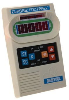 Mattel Classic Football Handheld Game, Your favorite season never ends with this electronic football game from Mattel. A re-release of the classic handheld game from the 1970s, it features the original football field, LCD players and sou..., #Toys, #Electronics for Kids