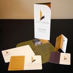 Project: Human Design - A Center for the Study of the Alexander Technique    Complete branding package created. Folded full-color business cards, postcard mailers, brochures and website.