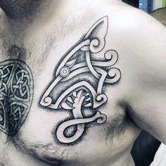 50 Celtic Wolf Tattoo Designs for Men - Knotwork Ink Ideas - Viking Tattoo - tattoo Tribal Tattoos, Wolf Tattoos Men, Buddha Tattoos, Simple Wolf Tattoo, Simple Wrist Tattoos, Wrist Tattoos For Guys, Celtic Wolf Tattoo, Norse Tattoo, Celtic Tattoos