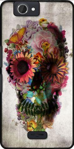 coque Skull Flowers Gardening pour Wiko Getaway