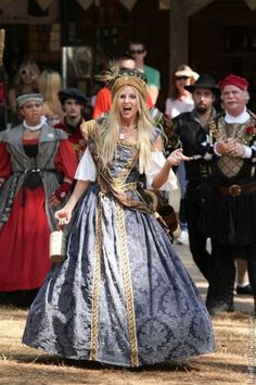 Jennifer Nuernberg as Queen Peg, the drunkard,has been performing at the Texas Renaisance Festival for 18 years.
