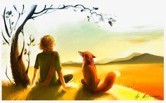 O pequeno príncipe e a raposa