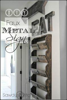 – Faux Metal Vintage Sign Sawdust2stitches