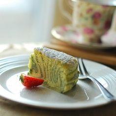 Green Tea Japanese Zebra Cheesecake by febie-b