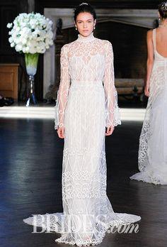 Brides: Alon Livne White Wedding Dresses - Fall 2016 - Bridal Runway Shows - Brides.com