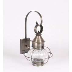 Northeast Lantern Onion 1 Light Outdoor Wall Lantern Finish: Raw Copper, Shade Type: Frosted