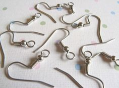 SALE  100pcs Surgical Stainless Steel French Hook by cutiestuffs, $6.00