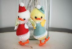 Vintage Made in Japan Duck Ornaments (lolie jane) Tags: christmas bird japan vintage duck ornament jestia