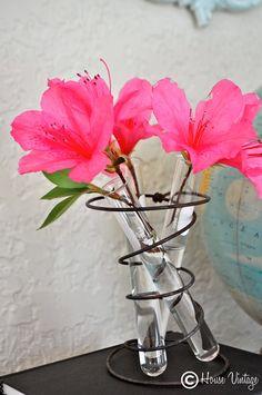 House Vintage: Winter Pinterest Challenge- Old Spring Bud Vase