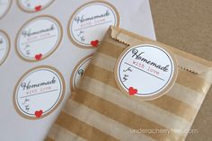 Learn how to make personalized sticker labels on the Craftsy blog!