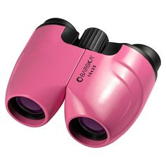 Binoculars Barska 10x25 Pink Porro New Co11370 10x Magnification Pouch Strap