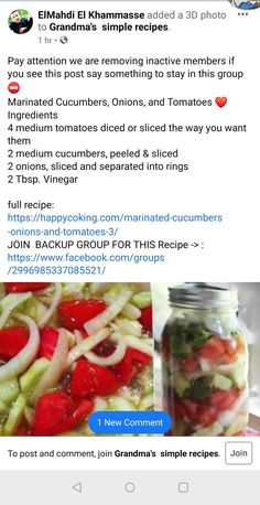 Marinated Cucumbers, Onion, Easy Meals, Vegetables, Recipes, Food, Onions, Recipies, Essen