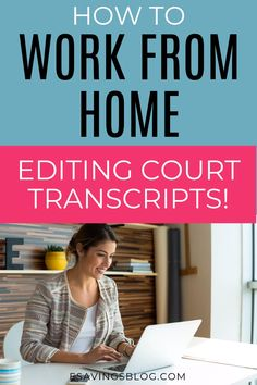 Want to find a good paying work at home job?  If you think you will like editing court transcripts then check out how to work as a scopist! #wworkathome #workathomejobs #workathomemom #sidehustles
