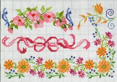 This Pin was discovered by Bid 123 Cross Stitch, Cross Stitch Bookmarks, Cross Stitch Borders, Cross Stitch Flowers, Cross Stitch Designs, Cross Stitching, Cross Stitch Embroidery, Embroidery Flowers Pattern, Little Stitch