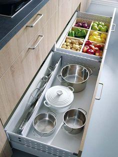 Amplía las zonas de almacén en tu cocina