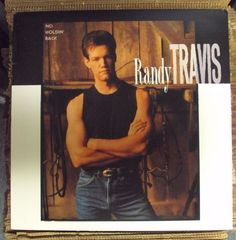 RANDY TRAVIS No Holdin' Back LP OOP late-80's country