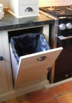 bin in cupboard!