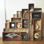 Tiny Mixed Media Worlds and Creatures Inside Antique Boxes by Allison May Kiphuth