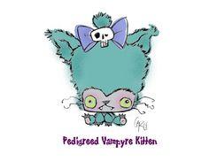 Pedigreed Vampyre Kitten    Want this Vamplet VAMPYRE KITTEN before anyone else?  Visit http://kck.st/W7DAgm to find out how!  #vamplets #Plush #Doll #Toys #Vampire #TrueBlood #Twilight #Monster