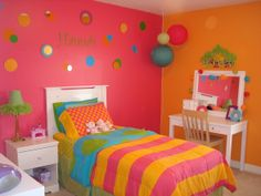 orange and pik room ideas | Found on roomzaar.com